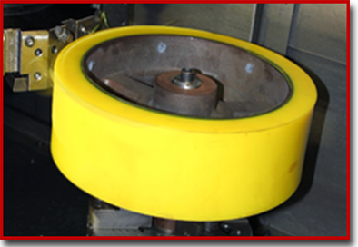large urethane pipe guide roller